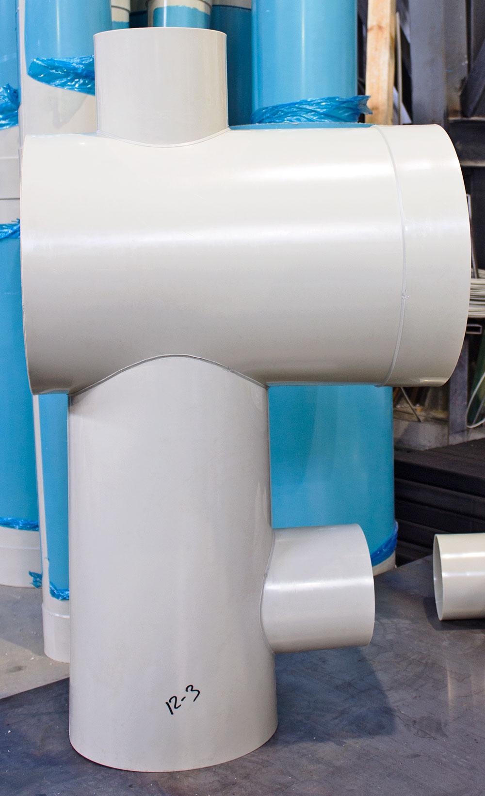 настандартные элементы вентиляции из полипропилена