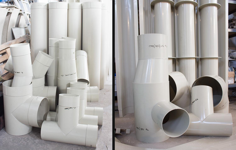 воздуховоды и фасонные элементы из полипропилена