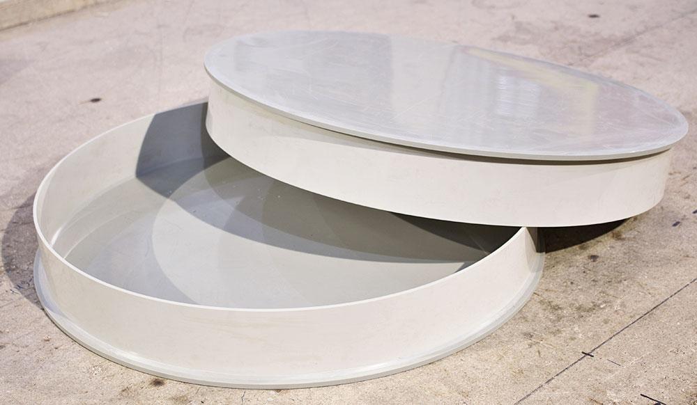 Заглушки круглые вентиляционные из полипропилена