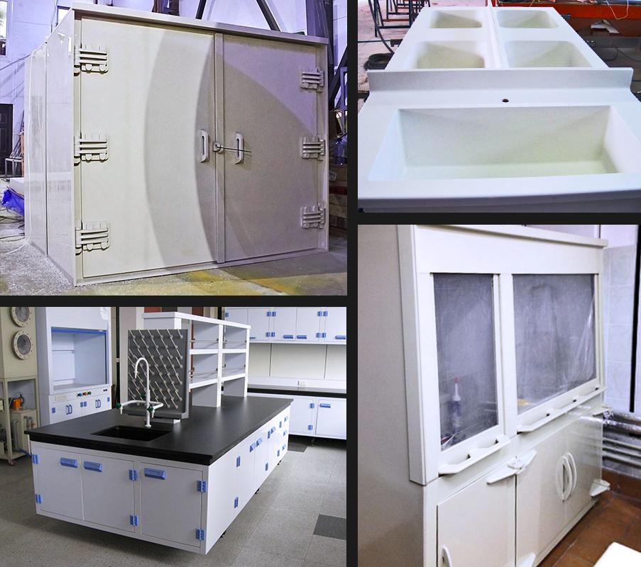 химически стойкая мебель из полипропилена