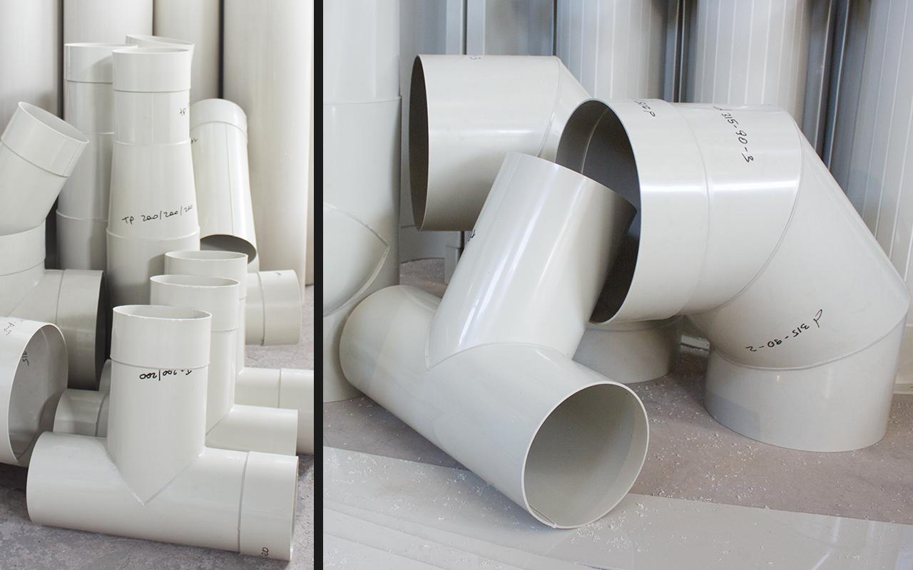 воздуховоды и фасонные изделия из полипропилена
